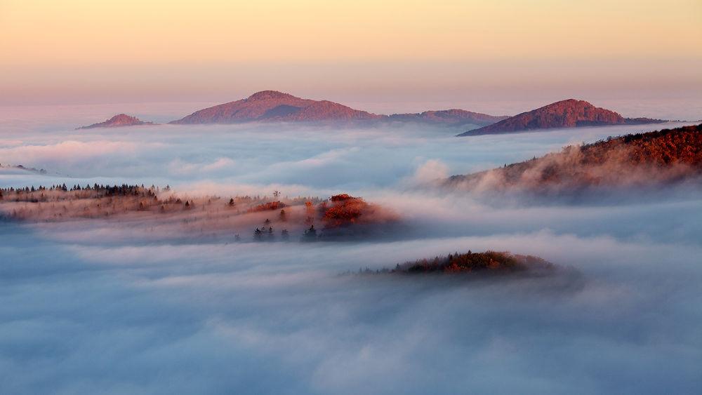 Photo in Landscape #clouds #inversion #autumn #fall #colors #morning #light #mountains #czech republic #lusatian mountains #nature #landscape #martin rak #ypa2013