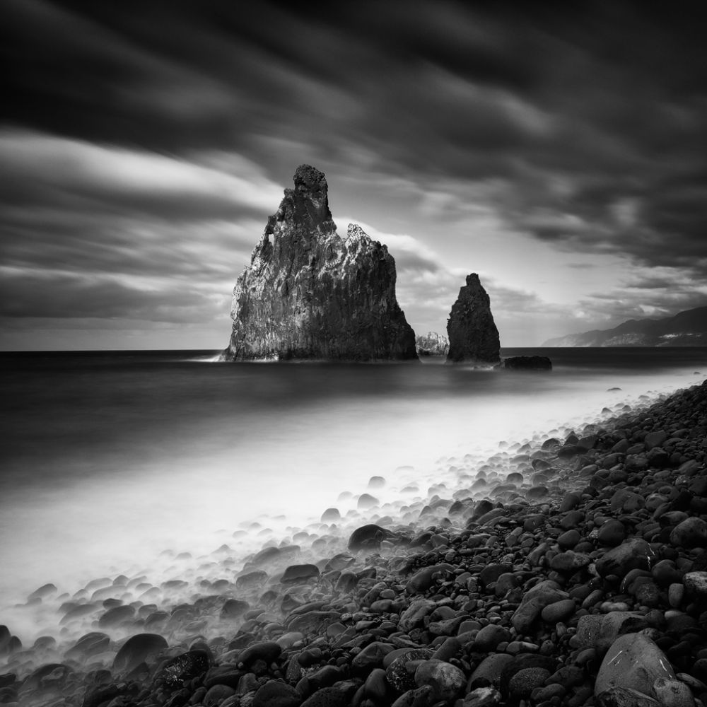 Photo in Landscape #shore #coast #rocks #sea #ocean #water #waterscape #rock #cliff #madeira #portugal #bw #nd #le #long exposure #fine art #black and white #sky #clouds