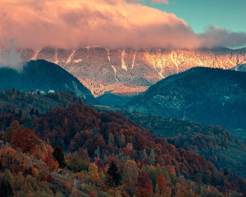 Photo in Random #landscape #nature #mountain #clouds #trees #sky #pestera #brașov #românia