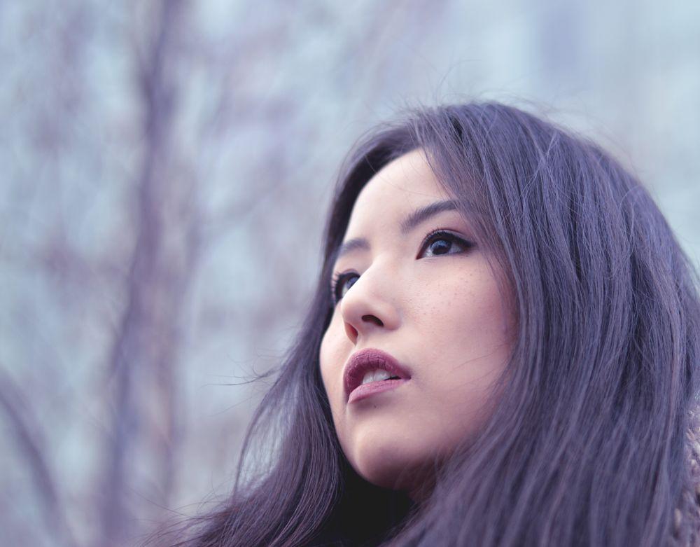 Photo in Portrait #girl #tree #wood #forest #sky #sun #light #mist #spring #nature #bokeh #nikon #sunlight #face #people #portrait #ny #city #nyc #manhattan #urban #new york #new yorker #model #actress