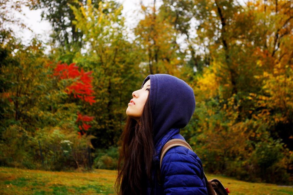 Photo in Portrait #girl #forest #park #tree #leaf #red #yellow #green #blue #sun #light #sky #misty #fog #nikon #bokeh #path #field #nature #cold #weather #winter #season #ny #portrait #people