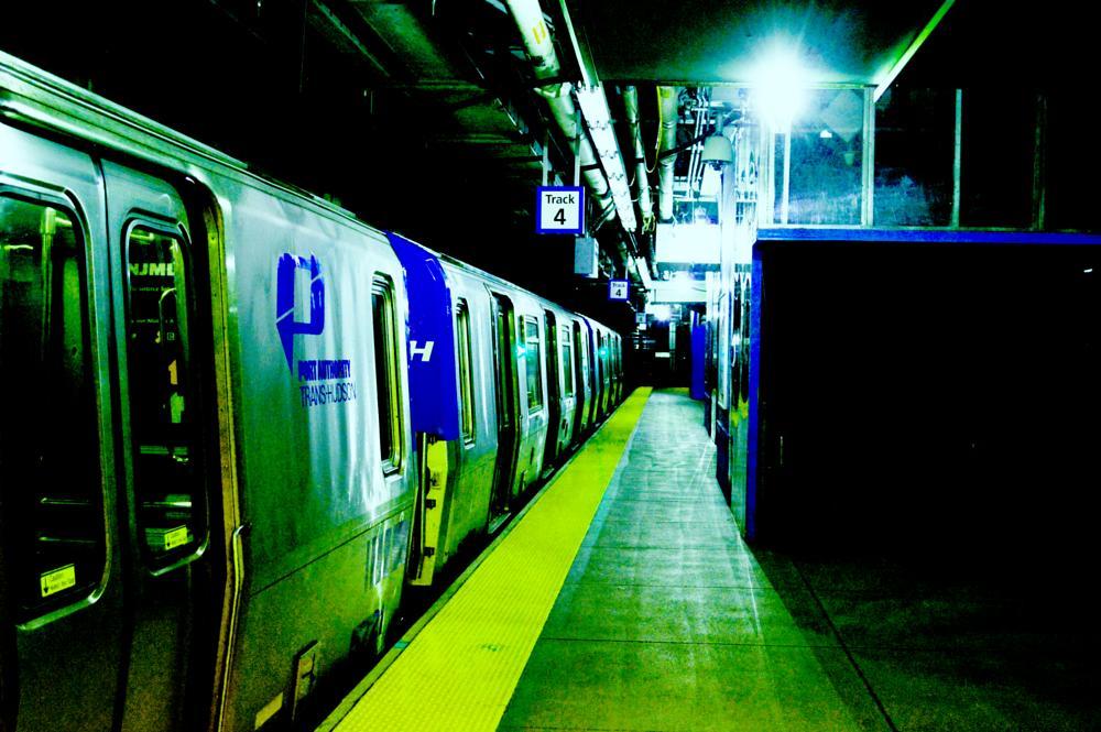 Photo in Urban #train #track #under #underground #station #world trade center #nj #ny #new york #city #urban #nikon #light