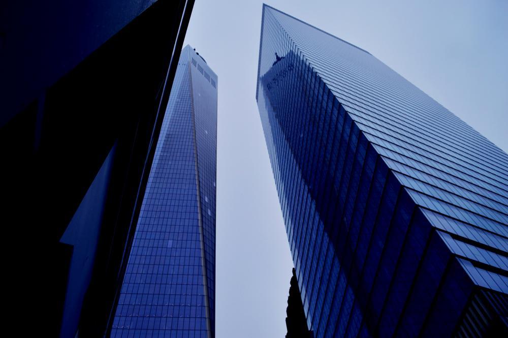 Photo in Architecture #reflection #sky #window #sun #cloudy #winter #ny #new york #downtown #nikon #street