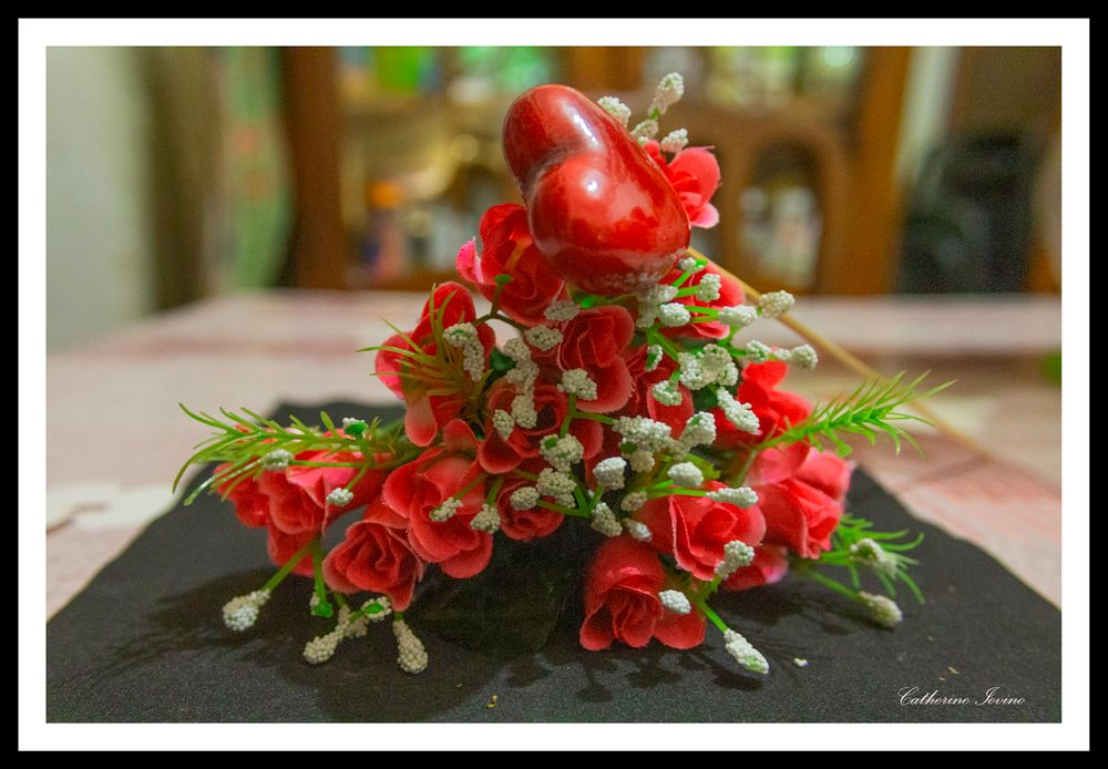 Photo in Fine Art #fete des mamans #bouquet of flowers #color #and heart #red