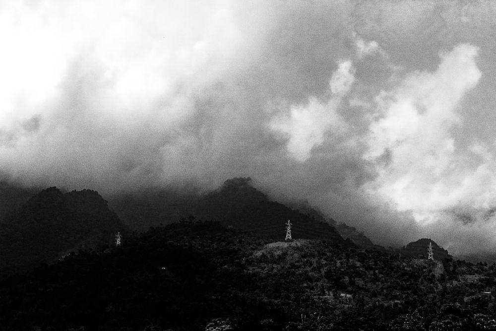 Photo in Black and White #b/w #cloud #landscape #canon