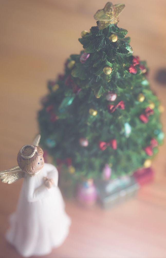 Photo in Still Life #christmas #angel #christmas tree #flash #light #faith #believe