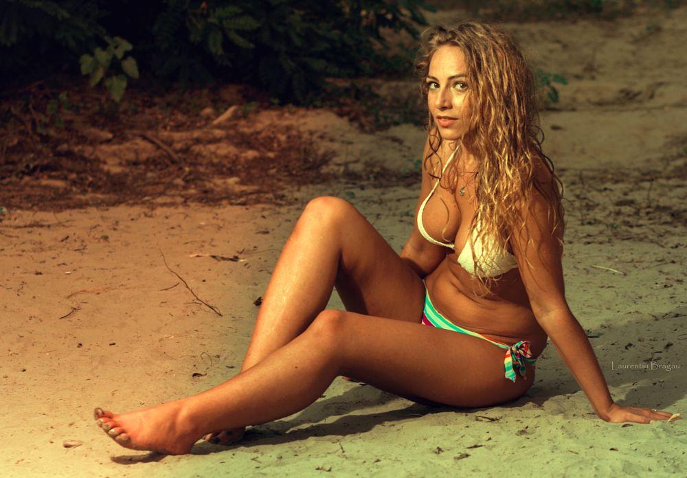 Photo in People #model #light #beach #girl #beauty #sunset #sun #summer #blonde #sexy #female #fashion #bikini