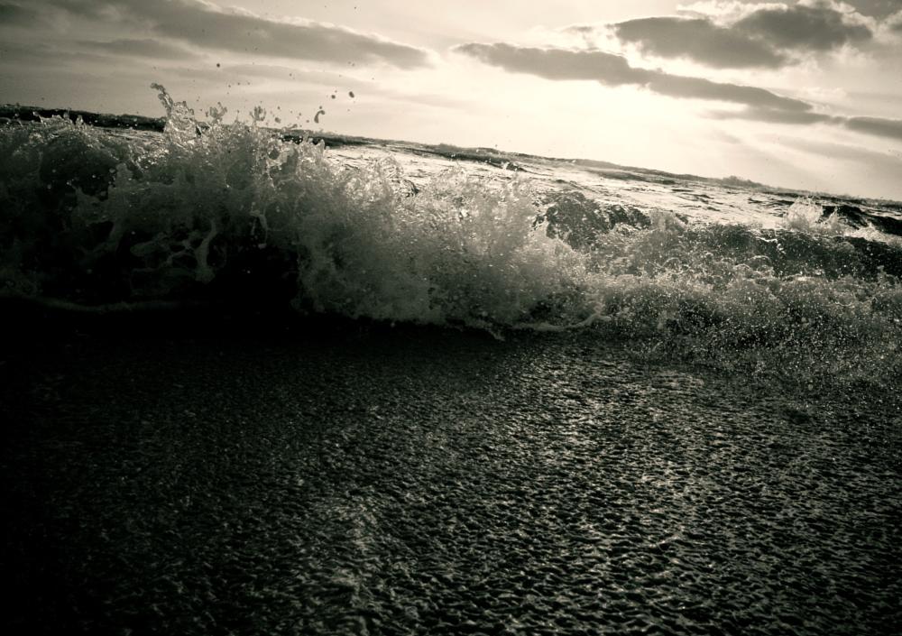 Photo in Nature #black #moment #wave #daya