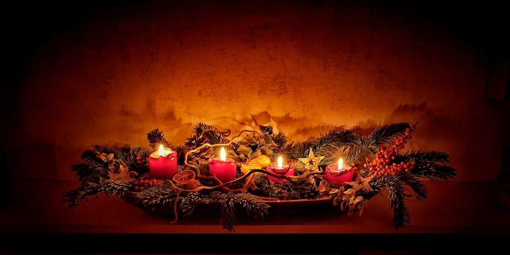 Photo in Still Life #christmas #advent decoration #candles