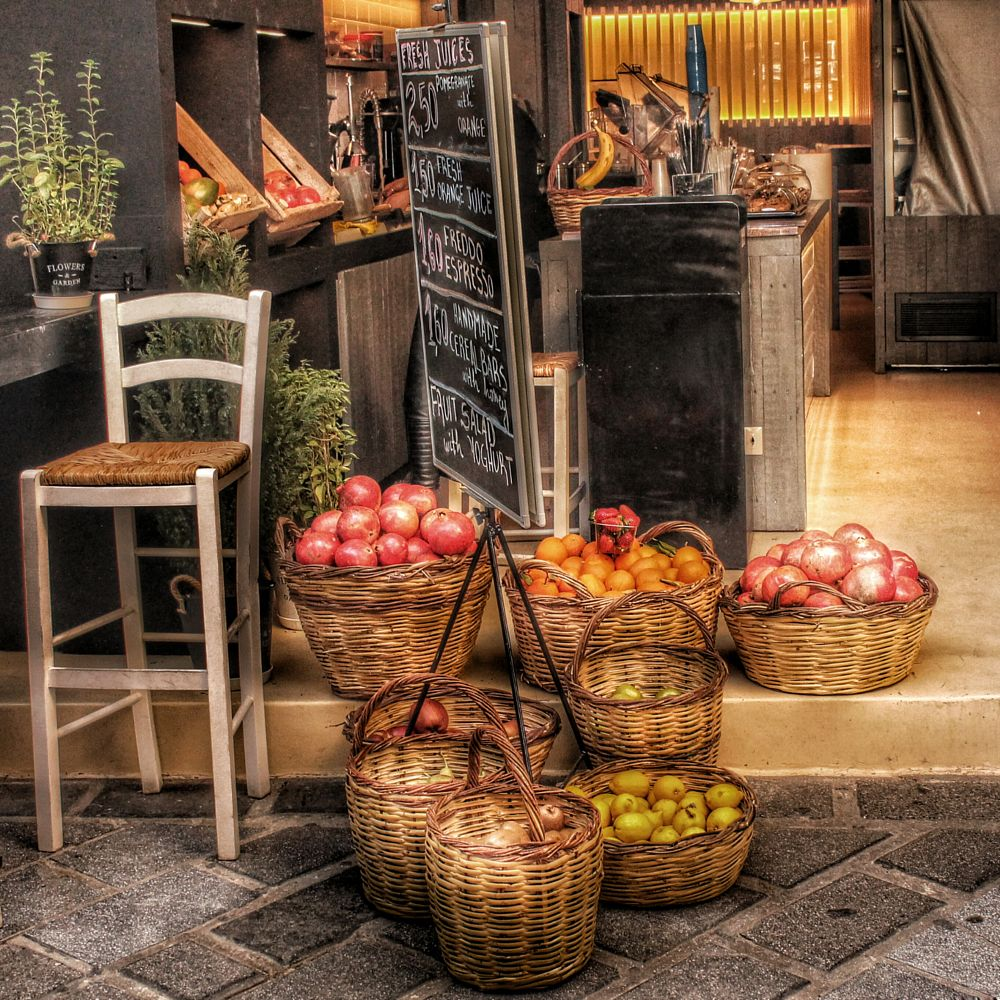 Photo in HDRI #hdr #fruit #colors #athens #market