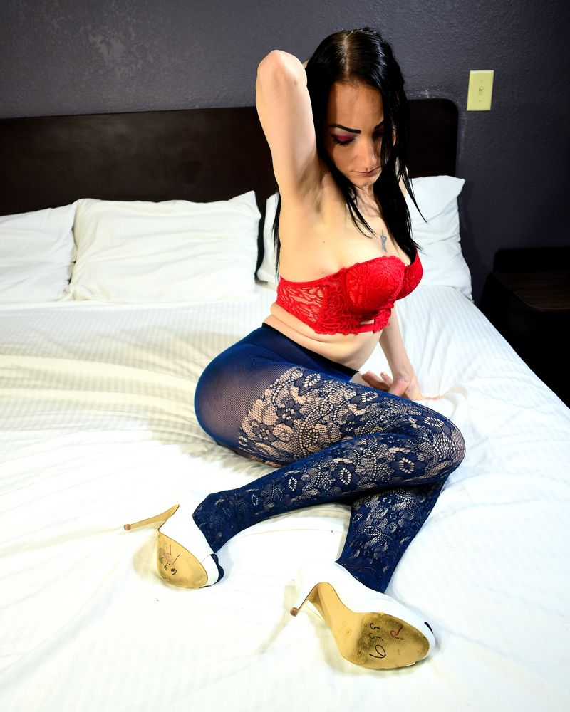 Photo in Fashion with model Jessika Foxx #fashion #people #pantyhose #heels #tattoo #bed