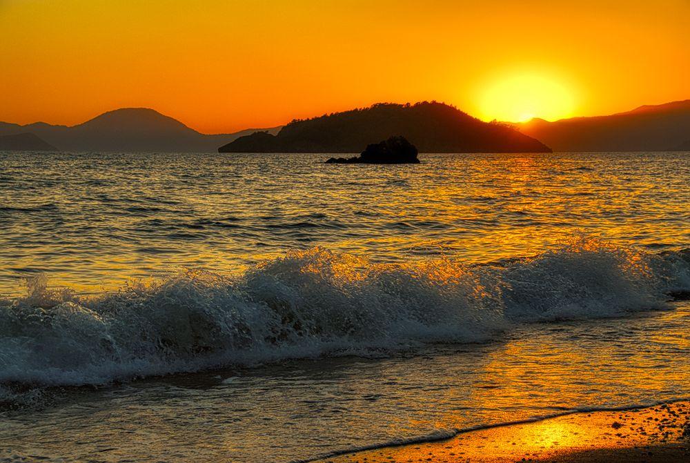 Photo in Nature #sunset #sea #turkey