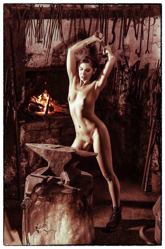 Photo in Nude #forge #schmiede #nude