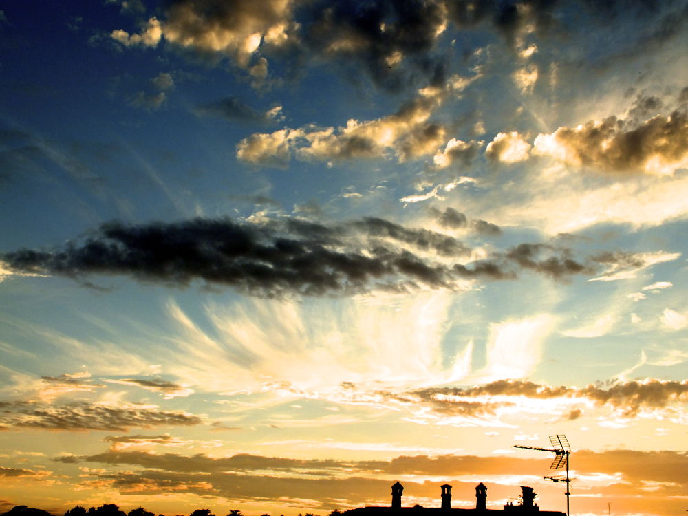 Photo in Landscape #sky #evening #amazing #beautiful #st malo #bretagne #cloud #sunset