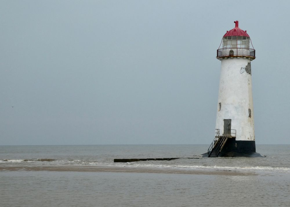 Photo in Sea and Sand #talacre #lighthouse #wales #sea