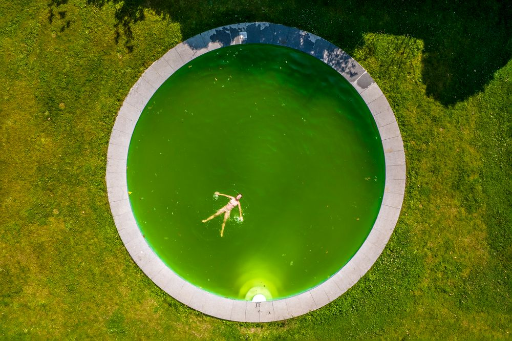 Photo in Nude #aerial #drone #nude #swimming #joy #model
