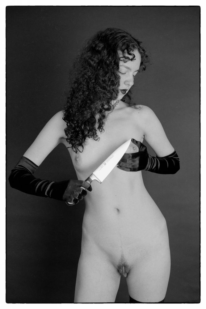 Photo in Nude #nude #model #black and white #film #35mm