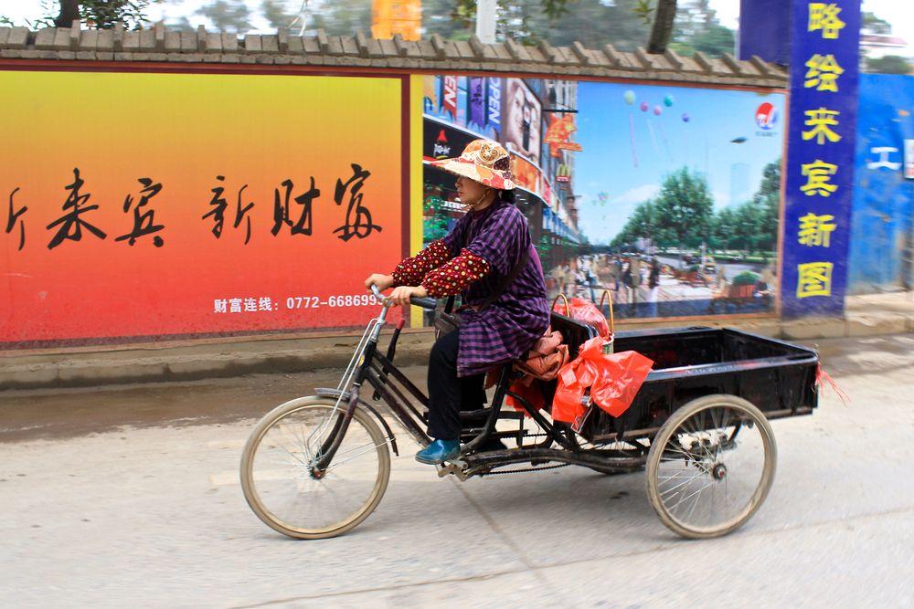 Photo in Fashion #china #trike #color #wardrobe #transport #determination