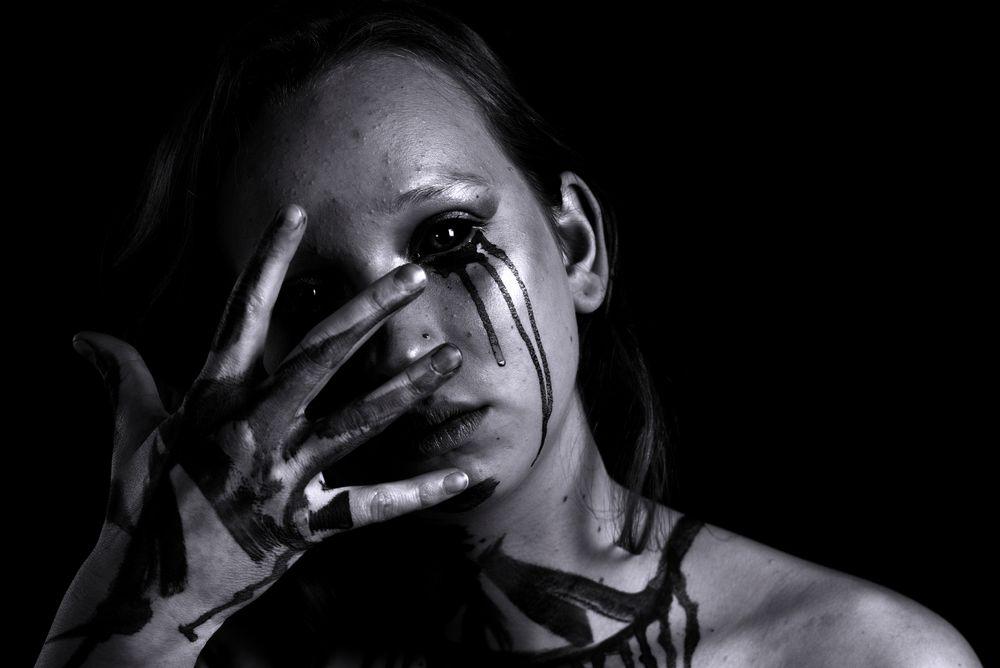Photo in Portrait #portrait #dark #bw