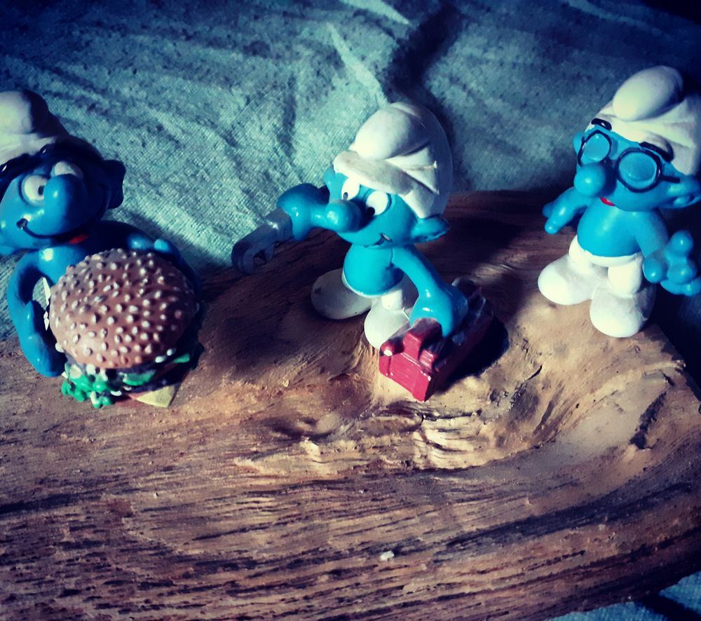 Photo in Random #smurf #puffo #blue #three