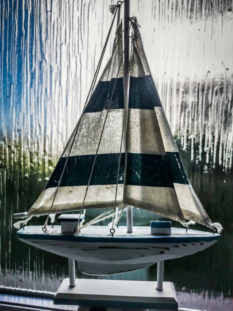 Photo in Sea and Sand #yacht #model #toy #boat #sail