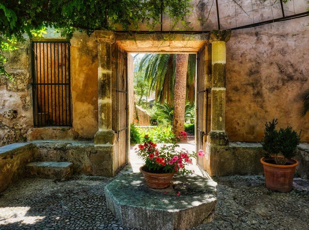Photo in Landscape #majorca #view outside #flowers #patio