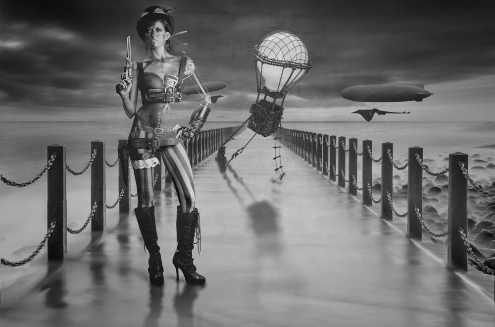 Photo in Fashion #steampunk #bodypaint #stingray