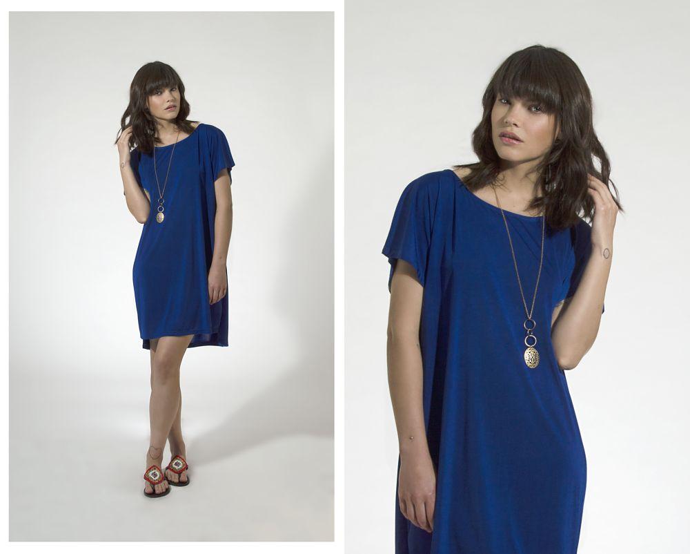 Photo in Fashion #fashion #beautiful #model #blue #studio