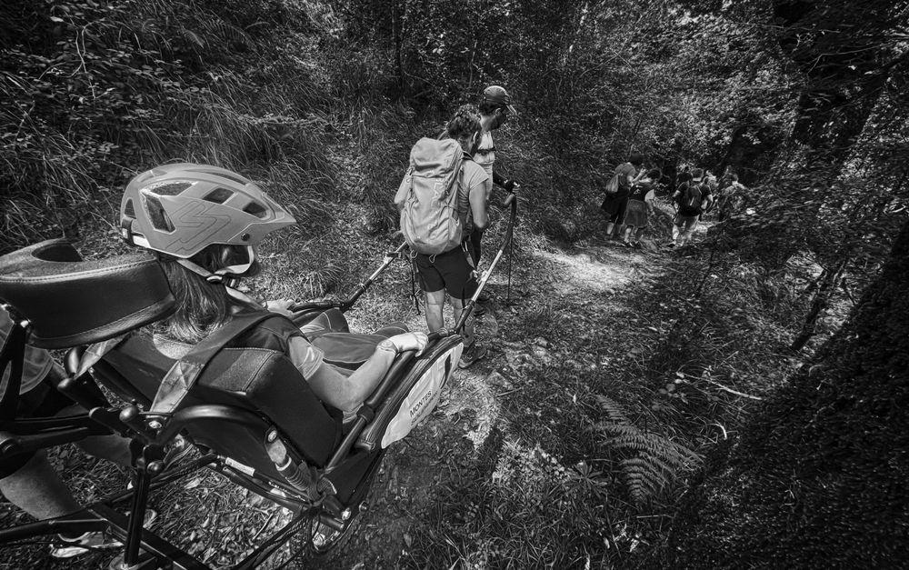 Photo in Sports #deporte #adaptado #blanco y negro #montaña #senderismo