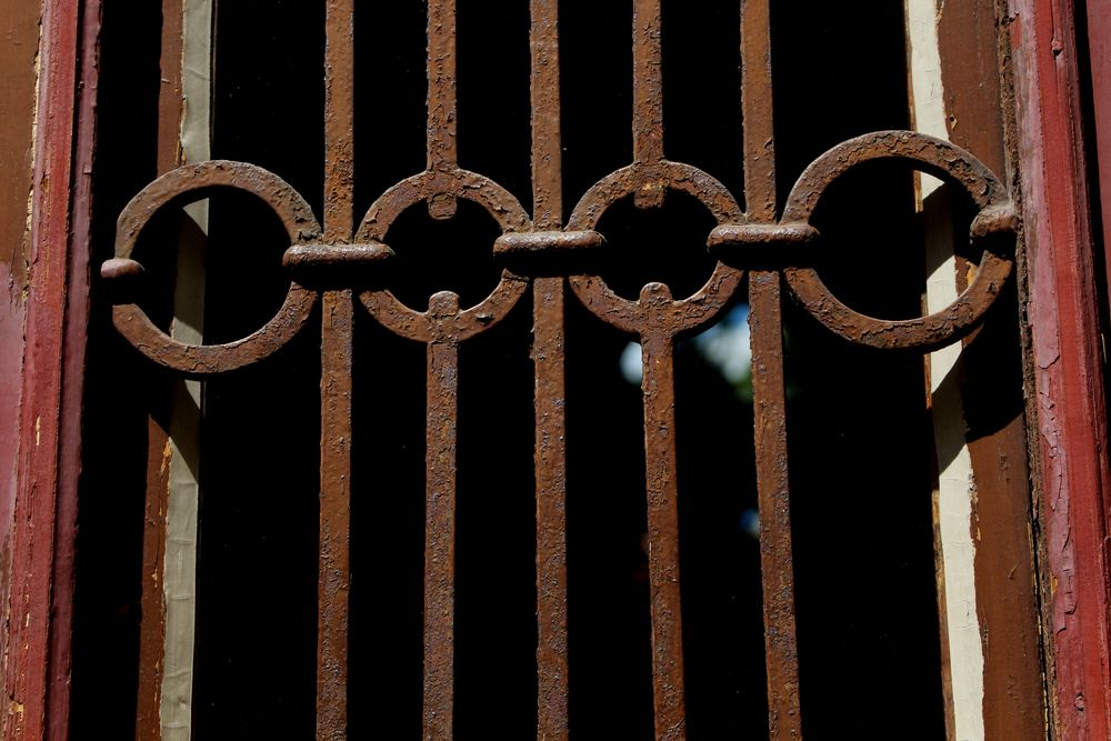 Photo in Architecture #door #details #architecture #rust #grate #depth of field #background blur #brown tones #red tones #city #urban #decay #june #2021 #vienna #exterior #round shape #no people