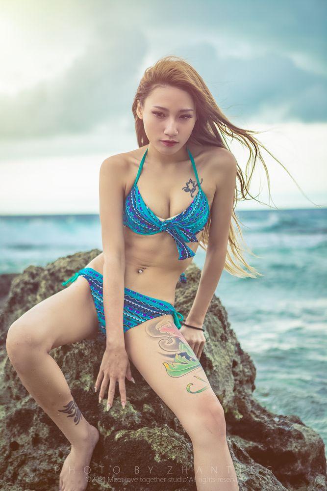 Photo in Random #泳裝 #戶外 #美術 #性感 #人 #肖像 #女孩 #台灣 #佳能 #愛 #美