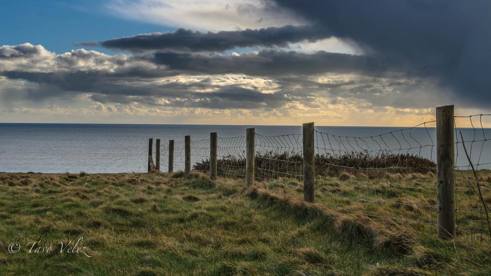 Photo in Landscape #sea #sky #mountain #barrier