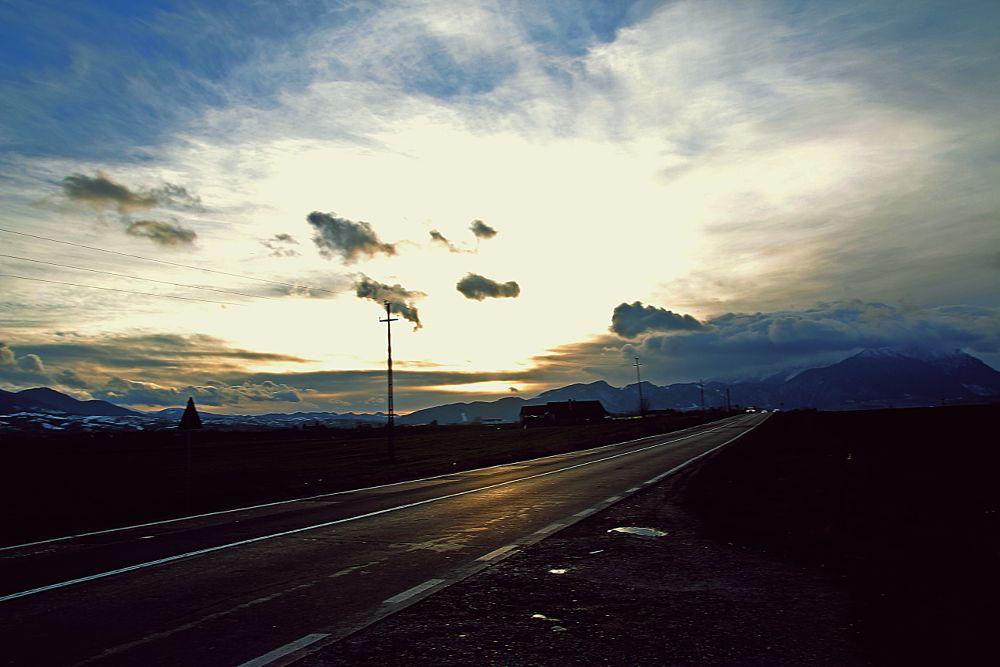 Photo in Rural #storm #street #road #night #sunshine #mountain
