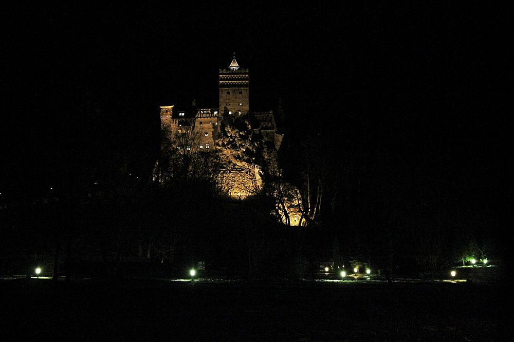 Photo in Architecture #vampire #castle #dracula #night #scare #old #afraid