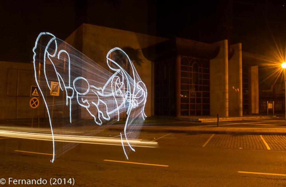 Photo in Street Photography #2014 #iluminação #luzes #natal #vila nova de famalicão #lighting #christmas #holy #family #gostly