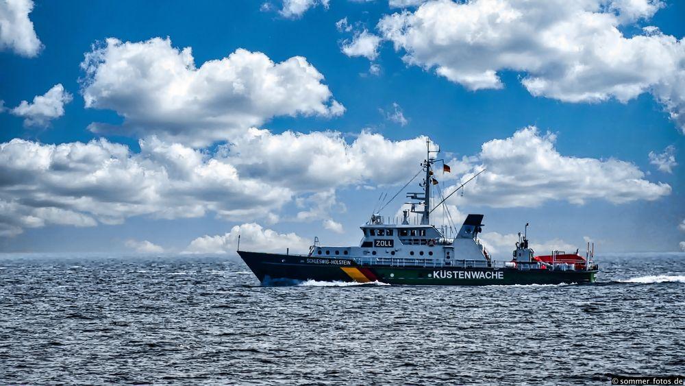 Photo in Landscape #zoll #customs #küstenwache #coast guard #nordsee #north sea #meer #schiff #ship