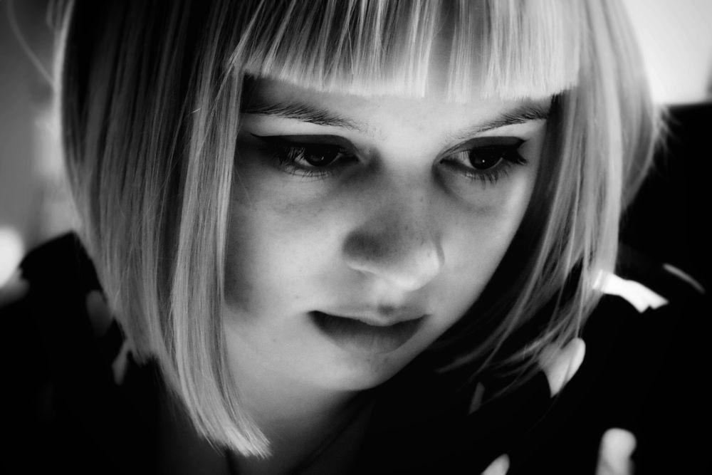 Photo in Portrait #close up #portrait #beauty #black and white #canon #canoneos80d