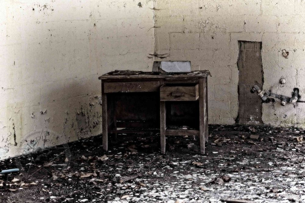 Photo in Random #desk #abandoned #usa #america #school