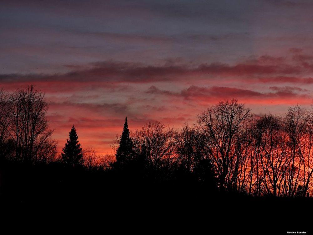 Photo in Nature #soleil #coucher #couleur #ciel #soir #quebec