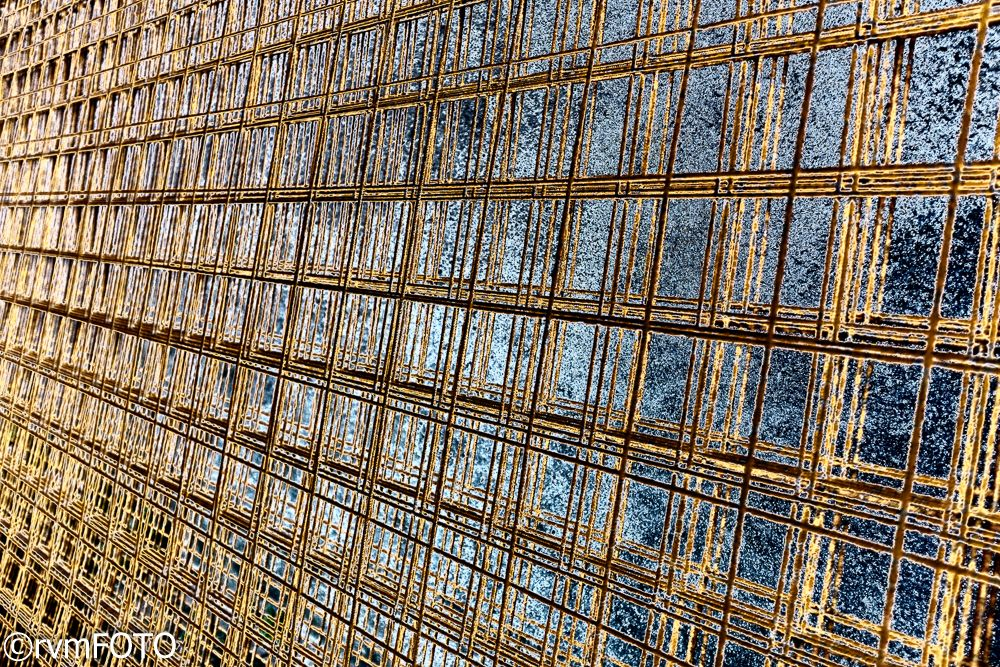 Photo in Architecture #metal #pattern #grid #color #construction