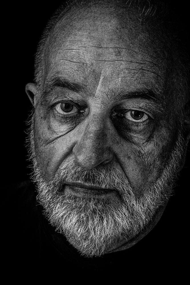 Photo in Black and White #man #mature #older #wrinkel #beard #bnw #face #close up