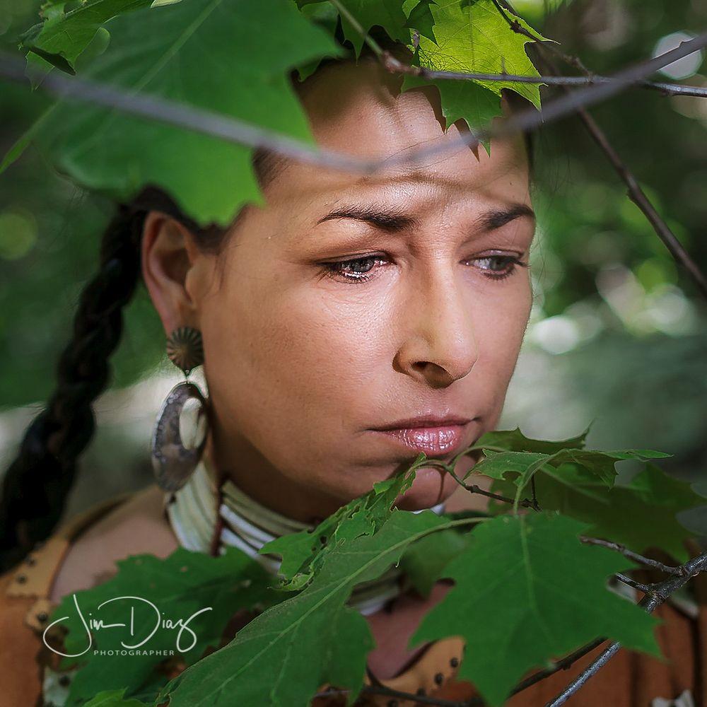 Photo in Random #female trees leaves eyes b