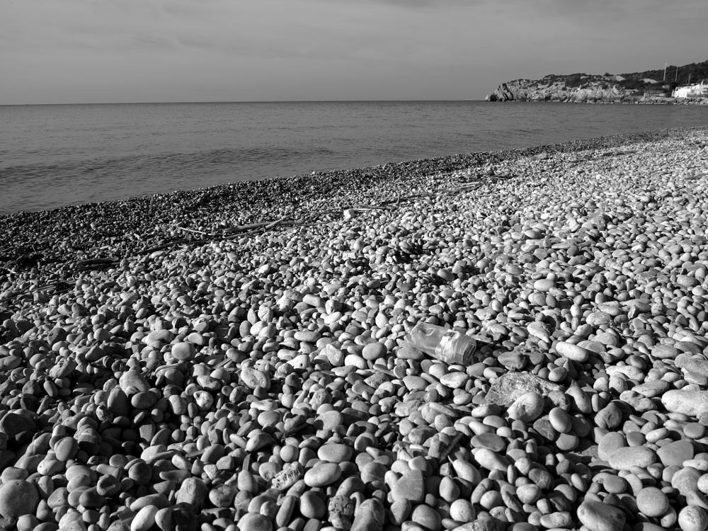 Photo in Black and White #beaches #stone #sea #travel #holidays #nature