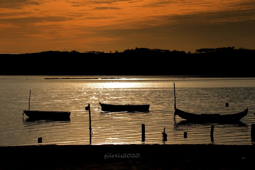 Photo in Landscape #nature #places #dusk #boats #lagoons #portugal