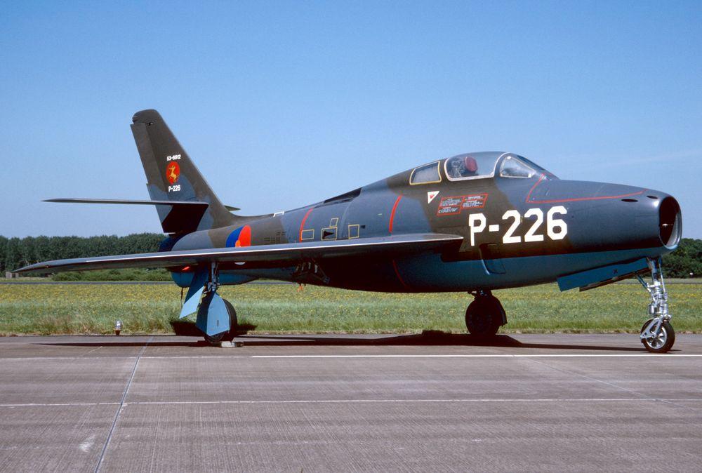 F-84F P-226 - RNethAF 314Sqn 950630 Volkel 1001