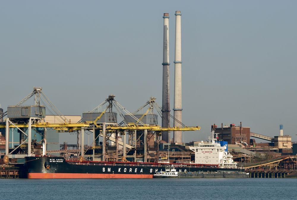 Photo in Industrial #industry #steel #tata steel #ijmuiden #noordzeekanaal #sm new orleans #bulkcarrier #maritime #ships #nikon