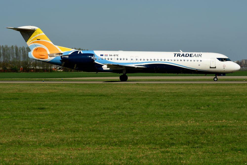 9A-BTE F28-0100 cn 11416 Trade Air 180418 Schiphol 1003