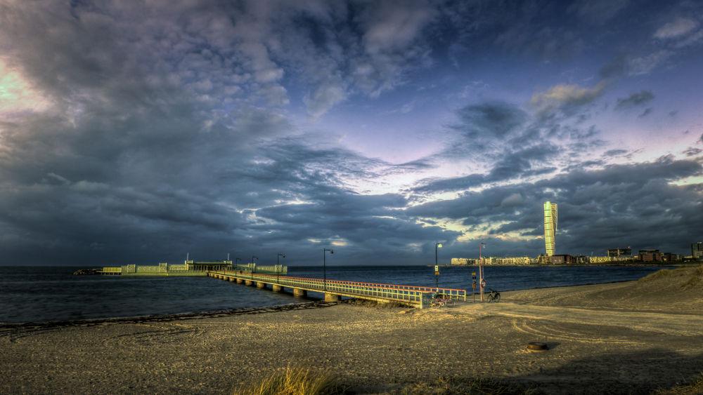 Photo in Landscape #malmö #malmo #sweden #malmoe #sverige #beach #storm #autumn