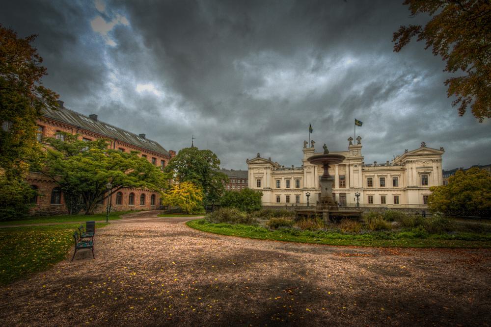 Photo in Cityscape #sweden #sverige #lund #university #hdr #city #cityscape #clouds #canon #70d