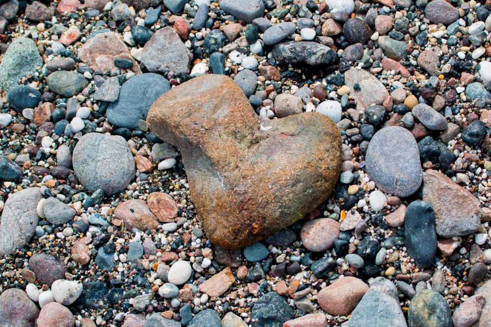 Photo in Nature #heart #stone #beach #pebbles #love